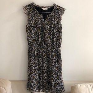 LOFT floral print short sleeve dress